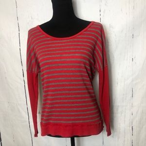 Michael Stars Womens Red Gray Thermal OS